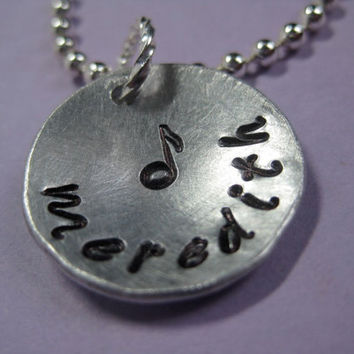 """Your Design - Custom 3/4"""" Hand Stamped necklace, personalized for you"""