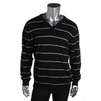Izod Mens Knit Striped V-Neck Sweater