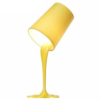 LumiParty Creative Spilling Paint Bucket Table Lamp