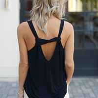 Michael Stars Cut Out Blouson Tank-Black-$88.00 | Hand In Pocket Boutique