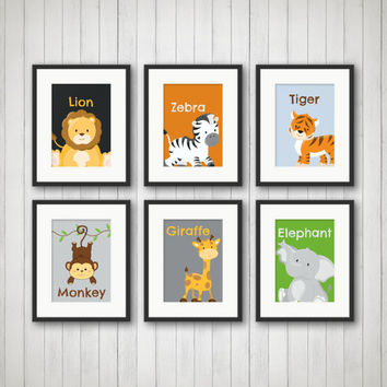 Jungle Decor - Jungle Bedroom Decor, Animal Prints, Nursery Decor, Jungle Nursery, Playroom Decor, Kids Room Decor, Jungle Birthday