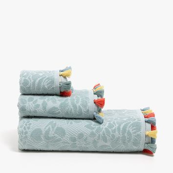 VELVET COTTON TOWEL WITH TASSELS - Towels - BATHROOM | Zara Home United States of America