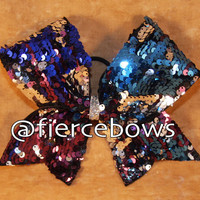 Four Color Reversible Sequin Cheer Bow