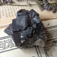 octahedron fluorite cluster from The Opaque