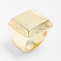 Leith Solid Rectangular Ring
