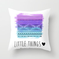 Little Things Throw Pillow by hayimfabulous