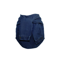 Denim Fake Sleeve Skirt
