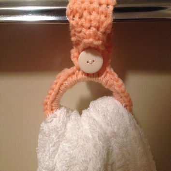 Crochet Kitchen Towel / Bathroom Towel Holder