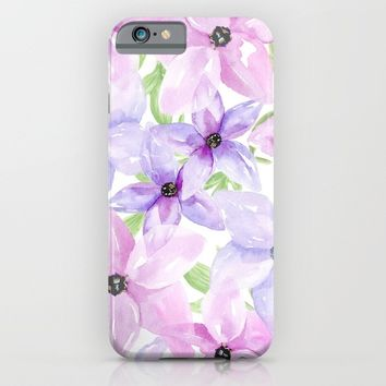 clematis vines iPhone & iPod Case by Sylvia Cook Photography