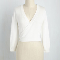 It's a Wrap Cardigan in Ivory | Mod Retro Vintage Sweaters | ModCloth.com