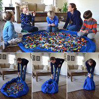 42cm/140cm Portable Kids Children Infant Baby Play Mat Large Storage Bags Toys Organizer Blanket Rug Boxes for Lego Toys