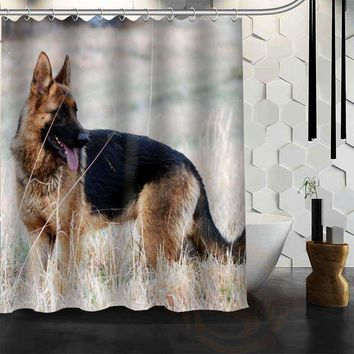 "German Shepherd Shower Curtain Bath Curtain "" Waterproof Fabric"""