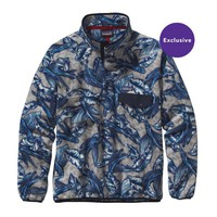 Patagonia Men's Lightweight Synchilla® Snap-T® Pullover | Hawaiian Fish: Drifter Grey