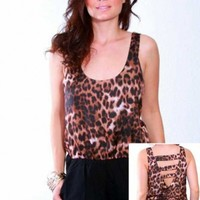 Sexy Cut Out  Leopard Print Romper - Diva Hot Couture
