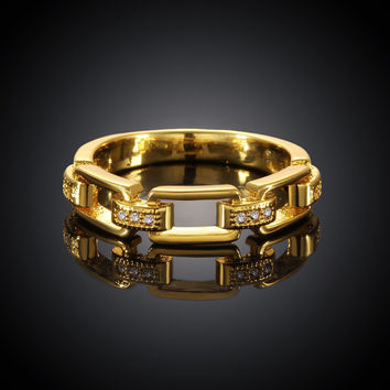 Rock Stack Gold Plated Ring