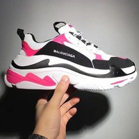 Balenciaga Mixed Colors Retro Sneakers Men And Women Running Shoes