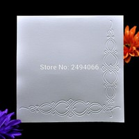 Corner Decoration Plastic Embossing Folder For Scrapbook DIY Album Card Tool Plastic Template 15.3x15.3cm 6121423