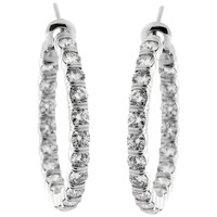 Harry Winston 5.46 Carat Diamond Platinum Hoop Earrings
