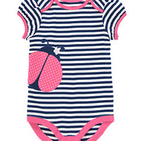 Striped Ladybug One Piece