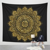 Datura Flowers Tapestry Aubusson Colored Mandala Bohemian Tapestry