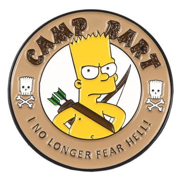 Free Camp Bart The Simpsons Enamel Pin Just Pay Shipping