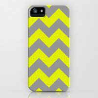 Chevron Lemon iPhone & iPod Case by Alice Gosling