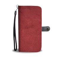 Red Leather-Like Phone Wallet Case