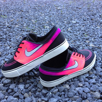 Pink and purple janoskis. Pink and purple nike zoom canvas janoskis