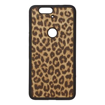 Leopard Print Google Nexus 6p Bumper Wood Case