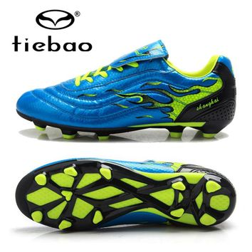 TIEBAO Professional Botas De Futbol Soccer Shoes FG & HG Soles Soccer Cleats Sneakers Men Teenagers Training Football Boots