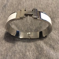 Hermes Clic H Bracelet White Used Condition