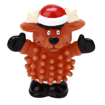 Christmas Reindeer Squeaky Dog Chew Toy