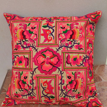 Hill Tribe Embroiderd Ethic Cushion Pillows Covers
