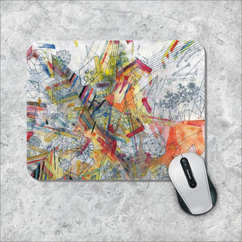 Geometric Mousepad, Sketch Mouse Pad, Custom Mousepad, Colorfull Mouse Mat, Personalized Computer Accessories, Custom Mouse Pad
