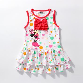 Infant Clothing Cheap Baby Girl 1st Minnie Birthday 2017 Infant Princess 1 Years Party Dresses Children Summer Fashion Dress