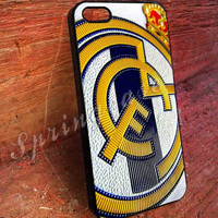 Real Madrid Logo art iphone 4/4s, iphone 5/5s,iphone 5c, samsung s3 i9300 case, samsung s4 i9500 case in Springcasestore