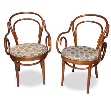 Shelby Williams Bentwood Cafe/Bistro Arm Chairs, pair