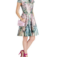 Glitch floral printed dress - Peach | Dresses | Ted Baker
