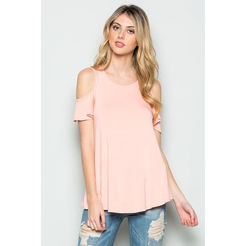 Solid Off Shoulder Top