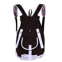 Contrast Color Checks Rucksack School Travel Gym Backpack Shoulder Bag