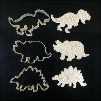 6pcs/set dinosaur cookies cutter biscuit mould set baking tools cutter tools cake decoration bakeware mold D968