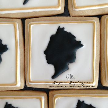 Royal Sugar Cookies Love London Queen silhouette | Decorated Cookies | Queen Cookies