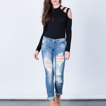 Vintage Destroyed Jeans