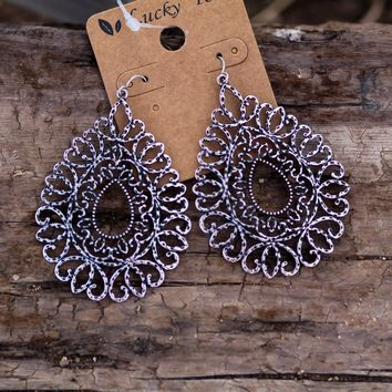 Tumbleweed Earrings in Silver
