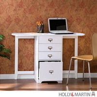 Holly & Martin 25-186-017-0-40 Paige White White Fold Out Organizer & Craft Desk