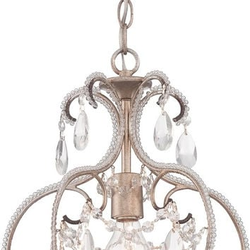 "0-002512>12""w Calla 1-Light Mini Chandelier Argent Silver"