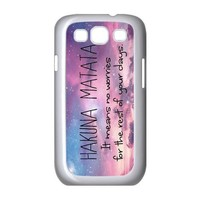 Keep Calm and Hakuna Matata Tribal Pattern Snap On Case Cover For Samsung Galaxy S3 I9300