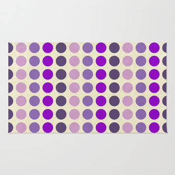 Shades Of Purple Polka Dots-Textured Area & Throw Rug by Inspired By Fashion