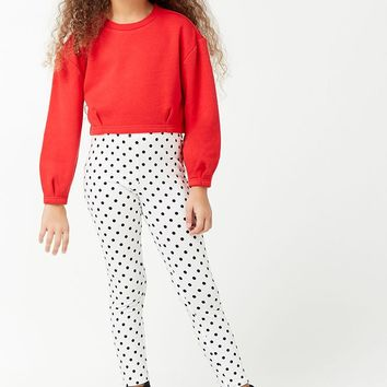 Girls Polka Dot Leggings (Kids)