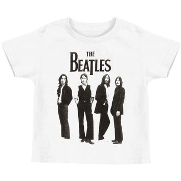 Beatles Boys' Standing Childrens T-shirt White